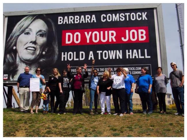 Dump Comstock billboard
